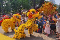 Người Sài Gòn nô nức đến Công viên Lê Văn Tám ăn Tết sớm